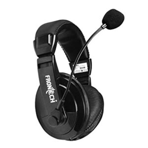 Frontech HF-0750 Wired Headset with Mic (Black)
