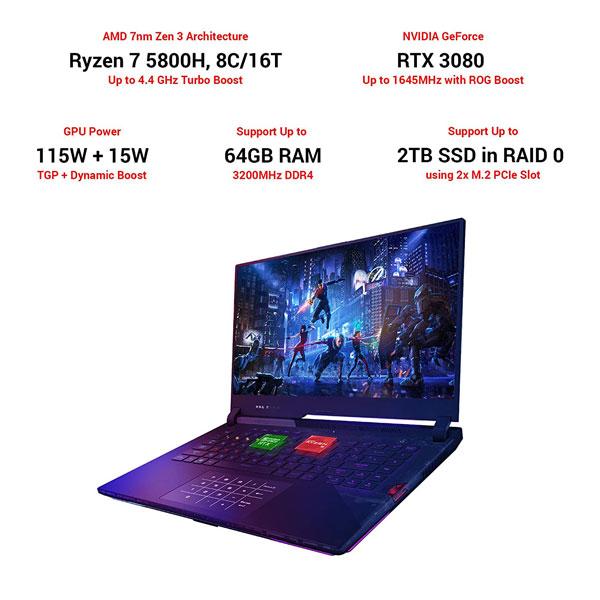 asus rog strix scar 15 g533qs hq102ts ryzen7 laptop 3