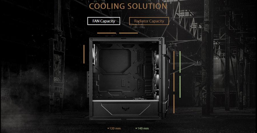 Asus TUF Gaming GT301 Mid-Tower ARGB Cabinet Case (Black)