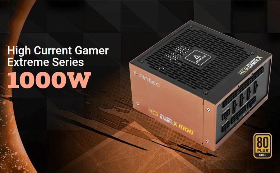 Antec HCG-1000-EXTREME SMPS 1000 Watt 80 Plus Gold Fully Modular PSU with Active PFC