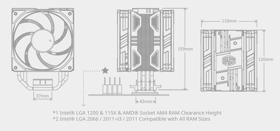 CoolerMaster Hyper 212 LED Turbo ARGB CPU Cooler (RR-212TK-18PA-R1)