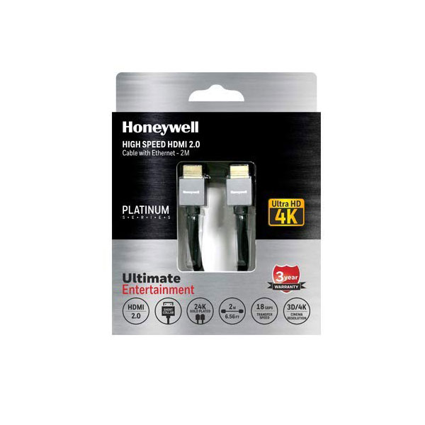 honeywell short collar hdmi 2.0 cable 2 meter 4