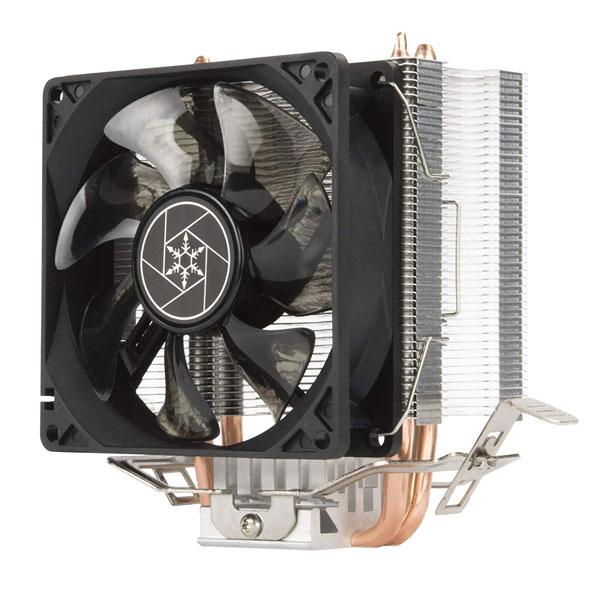 Silverstone KR03 Krypton CPU Cooler, 92mm Blue LED Fan, 2000 RPM, Universal Socket Compatibility Intel & AMD