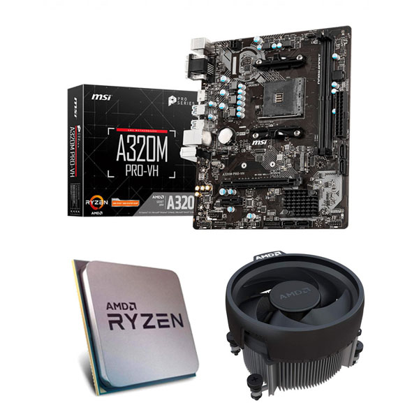 AMD Ryzen 3 3200G and MSI A320M Pro VH Motherboard Combo