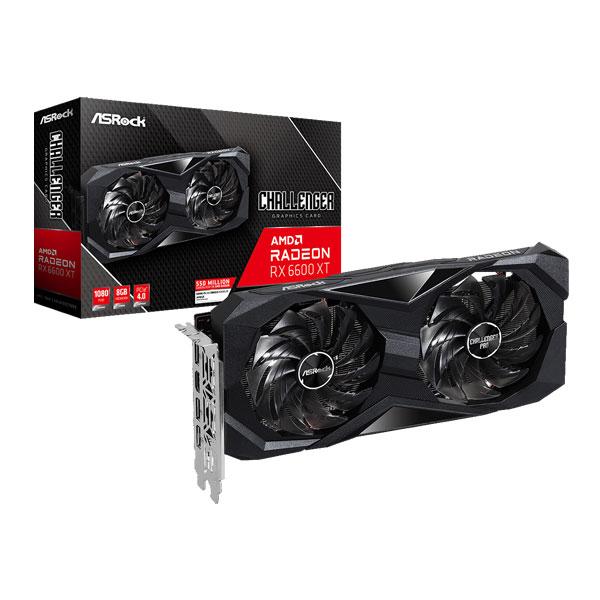 AsRock AMD Radeon RX 6600 XT Challenger D 8GB OC Graphic Card RX6600XT CLD 8GO