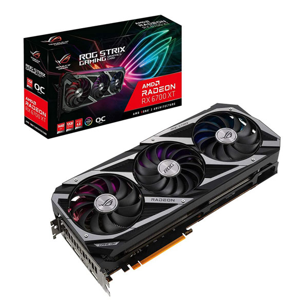 ASUS ROG STRIX GAMING Radeon RX 6700 XT OC 12GB Graphics Card ROG-STRIX-RX6700XT-O12G-GAMING