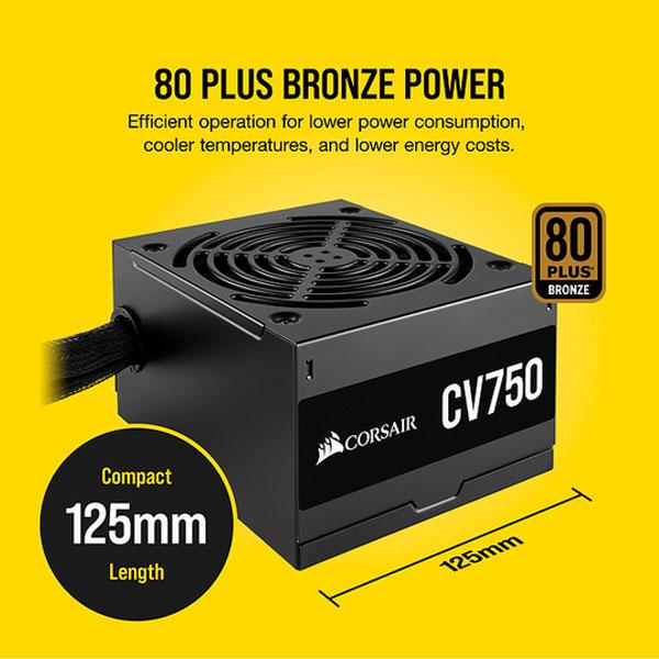 corsair cv750 80 plus bronze smps 5