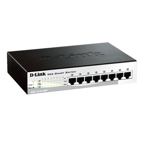 Dlink DES-1210-08P 8-Port Fast Ethernet PoE Smart Managed Switch