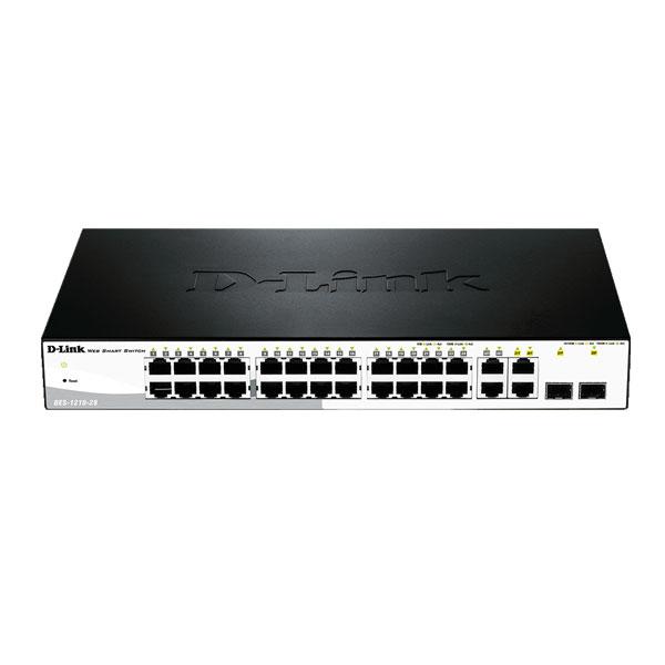 Dlink DES-1210-28 28-Port Fast Ethernet Smart Managed Switch