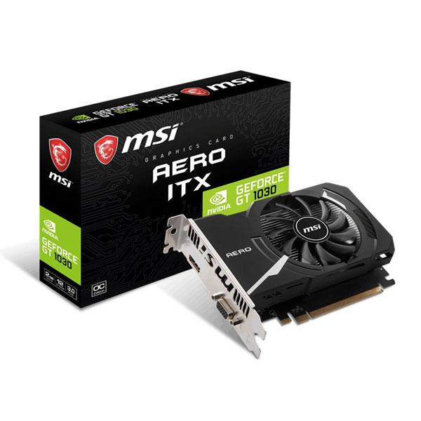MSI GT 1030 Aero ITX OC 2GB Graphics Card GT-1030-AERO-ITX-2GD4-OC