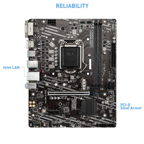 msi h410m a pro motherboard 2