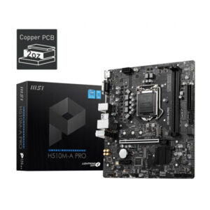 MSI H510M-A-Pro Motherboard Intel Socket 1200/11th and 10th Gen