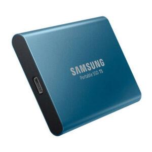 Samsung T5 500GB USB 3.1 External SSD - Alluring Blue 10Gbps, Type-C