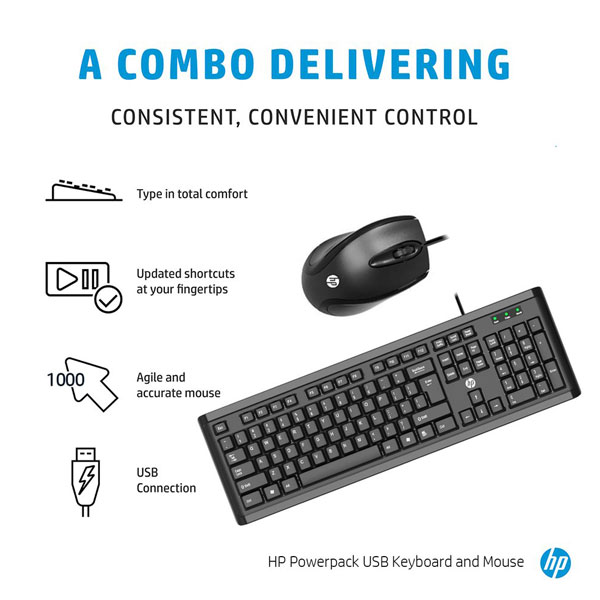 hp powerpack usb keyboard mouse combo 4