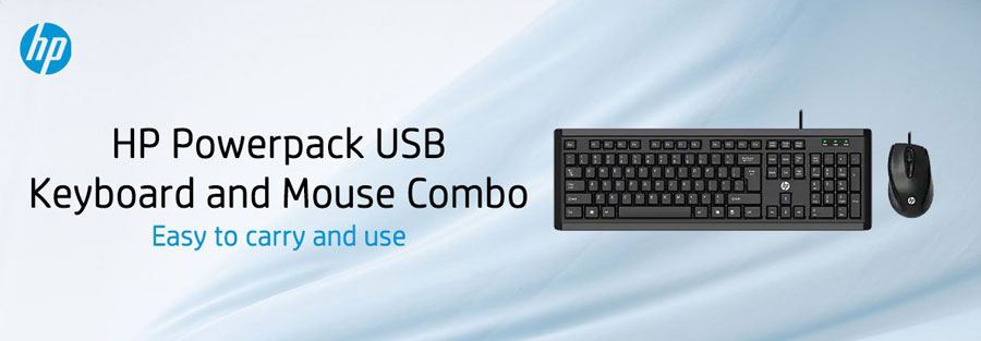 HP Powerpack USB Wired Keyboard and Mouse Combo Y5G54PA
