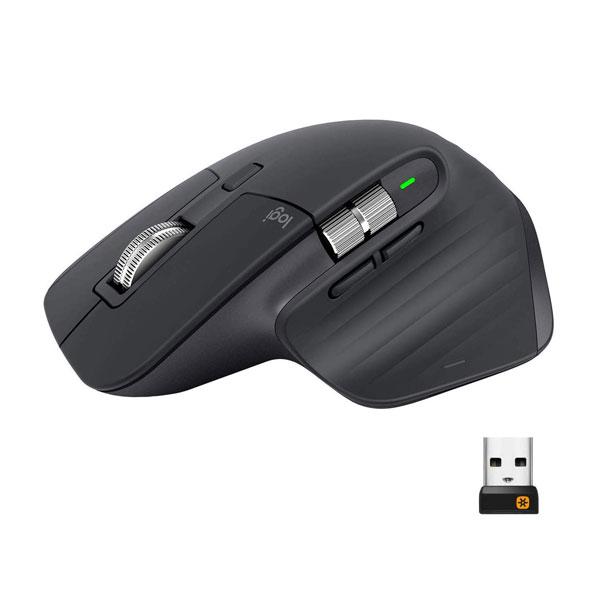 Logitech MX Master 3 Wireless Mouse, Ultrafast Scrolling, Use on Any Surface, Ergonomic, 4000 Dpi