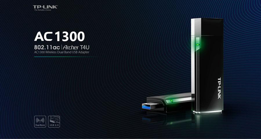 Tplink AC1300 Archer T4U Wireless Dual Band USB Adapter