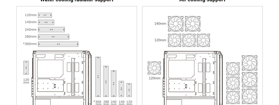 Cougar DarkBlader X5 Cabinet Mid-Tower Gaming Case (Black)