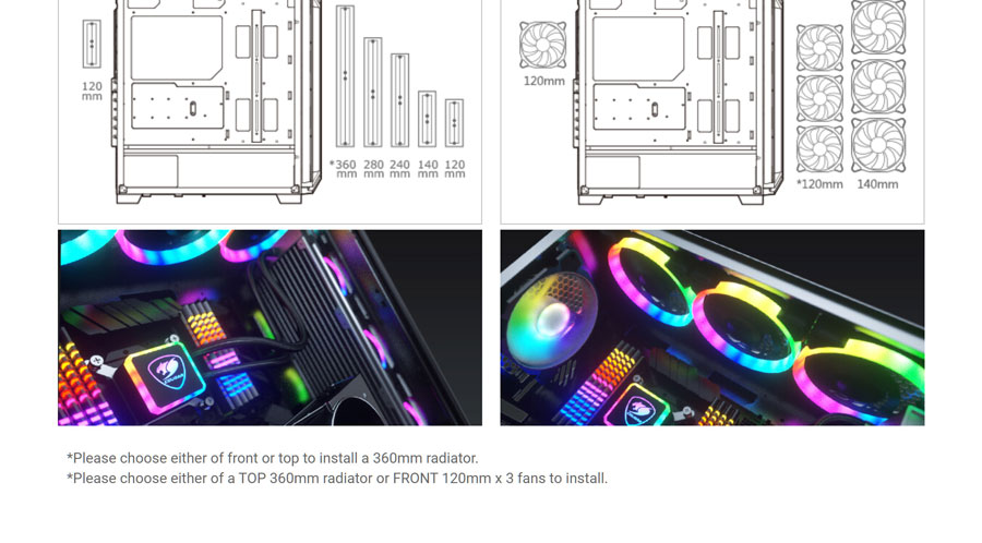 Cougar DarkBlader X5 RGB Cabinet Mid-Tower Gaming Case (Black)